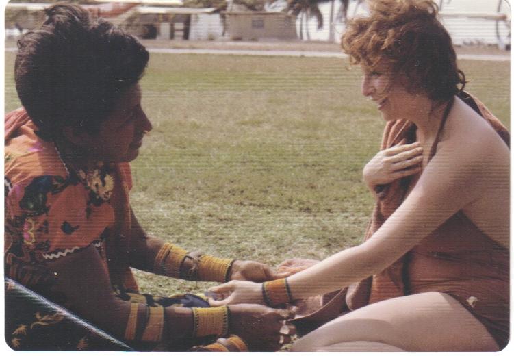 Lili Fournier & Cuna Indian, San Blas Isles