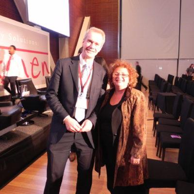 Lili Fournier & Hardtalk host Steven Sackur