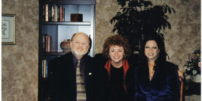 Lili Fournier with Barbara De Angelis and Ron Santora on Quest for Love PBS special