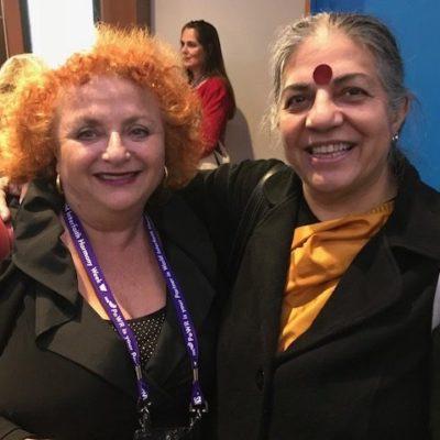 Lili Fournier and Dr. Vandana Shiva