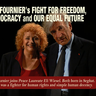 Lili Fournier and Eli Wiesel