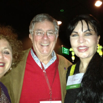 Lili Fournier and Loreen Arbus with Mayor of Little Rock