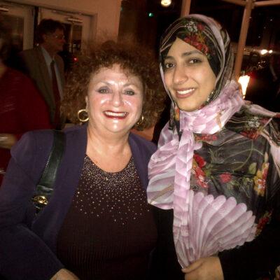 Lili Fournier and Nobel Laureate Tawakkol Karman