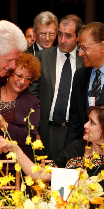 Lili Fournier and President Clinton at CGI