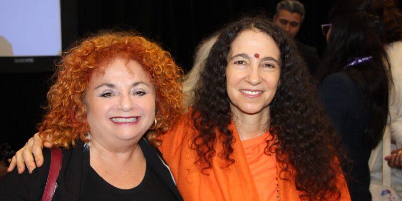 Lili Fournier and Sadhvi Bhagawatiji