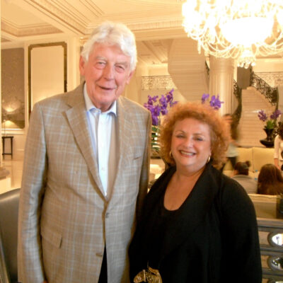 Lili Fournier and Wim Kok, President of the Club of Madrid, Forum of Democratic former Presidents and PMs
