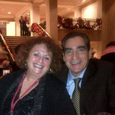 Lili Fournier with Petre Roman, former Prime Minister of Romania