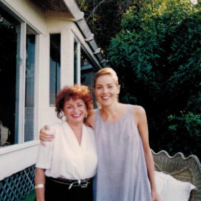 Lili Fournier with Sharon Stone
