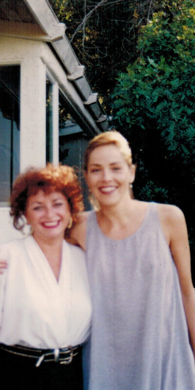Lili Fournier and Sharon Stone, Women in Film 2 Hour Cable TV Special